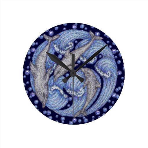 Delfínes Reloj Redondo Mediano