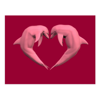 Delfínes rosados postales