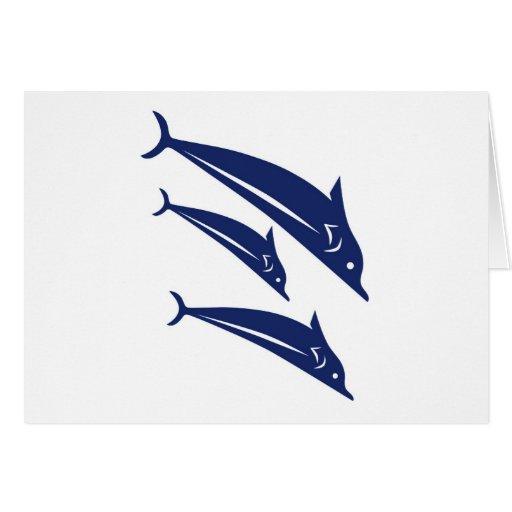 Delfínes Tarjeta De Felicitación