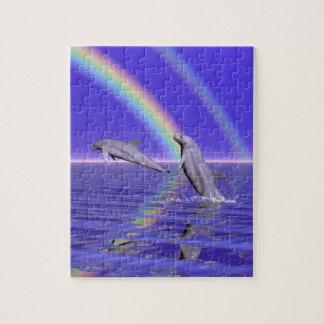 Delfínes y arco iris puzzle