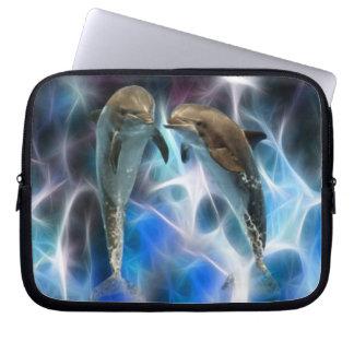 Delfínes y cristales del fractal fundas ordendadores