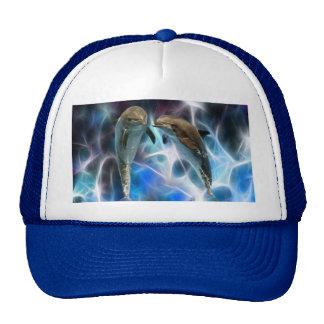 Delfínes y cristales del fractal gorra