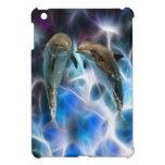 Delfínes y cristales del fractal iPad mini carcasa