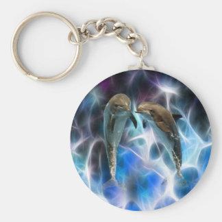 Delfínes y cristales del fractal llavero