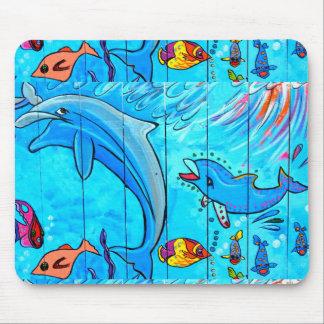 delfínes y mousepad tropical de los pescados