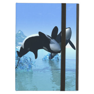 Delfínes y orca