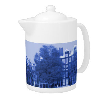Delft-Azul-Mirada del paisaje urbano de Amsterdam