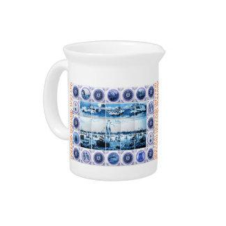 Delft-Azul-Mirada holandesa Holanda del vintage De Jarras Para Bebida