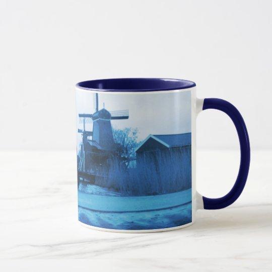Delft-Azul-Mirada tradicional de Holanda del Taza