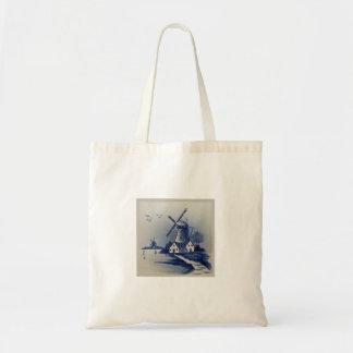 Delft azul y blanca del vintage bolsa tela barata