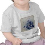 Delft azul y blanca del vintage camiseta