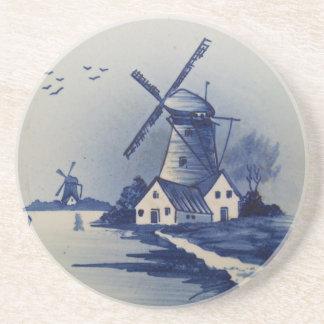 Delft azul y blanca del vintage posavasos manualidades