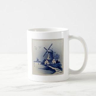 Delft azul y blanca del vintage taza de café