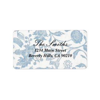 Delft Blue Address Label