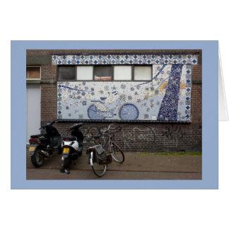 Delft Blue and Bikes Card