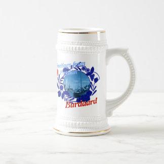 Delft Blue Fryslân Burdaard Beer Stein 18 Oz Beer Stein
