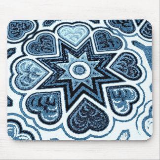 Delft Blue Heart Mousepad