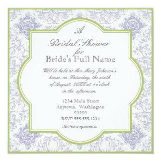Delft Blue Iris Quatrefoil - Bridal Shower Invite