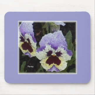 Delft blue pansy mouse pad