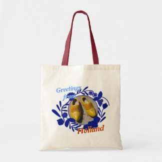 Delft Blue Pattern Clogs Greetings from Holland Tote Bag