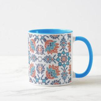 Delft Blue Red Pattern Art Coffee Mug