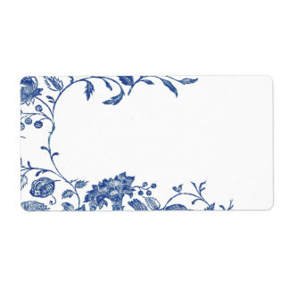 Delft Blue Shipping Label