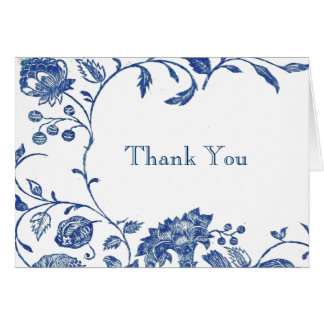 Delft Blue Thank You Card
