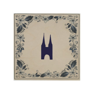 Delft blue tile Eastern Gate in Delft Wood Wall Decor