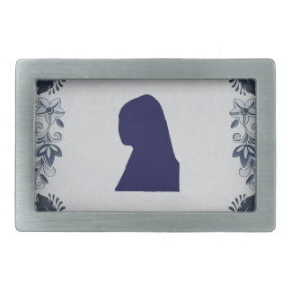 Delft blue tile Girl with a Pearl Earring Belt Buckle