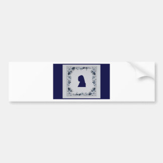 Delft blue tile Girl with a Pearl Earring Bumper Sticker