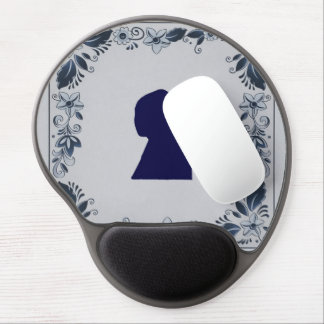 Delft blue tile Girl with a Pearl Earring Gel Mouse Pad