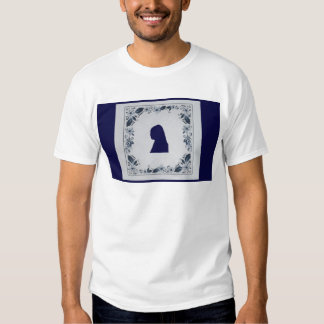 Delft blue tile Girl with a Pearl Earring T Shirt