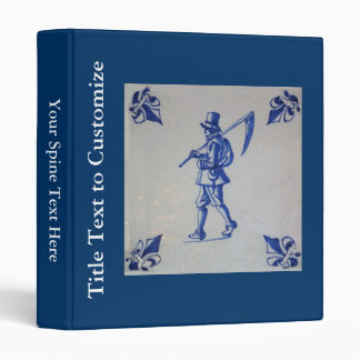 Delft Blue Tile - Mower Carrying Scythe or Sickle Binder