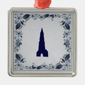 Delft blue tile New Church in Delft Metal Ornament