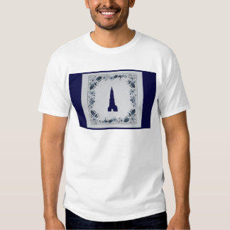 Delft blue tile New Church in Delft T Shirt