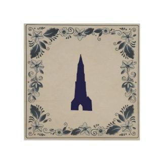 Delft blue tile New Church in Delft Wood Wall Decor