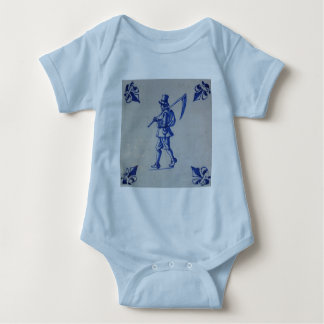 Delft Blue Tile - Template Baby Bodysuit