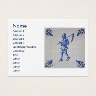 Delft Blue Tile - Template Business Card