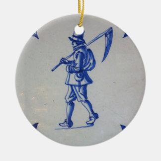 Delft Blue Tile - Template Ceramic Ornament