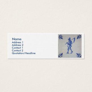 Delft Blue Tile - Template Mini Business Card