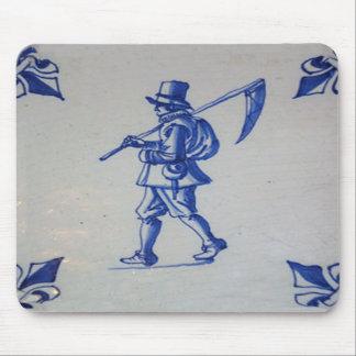 Delft Blue Tile - Template Mouse Pad