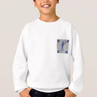Delft Blue Tile - Template Sweatshirt
