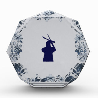 Delft blue tile windmill 'de Roos' in Delft Award