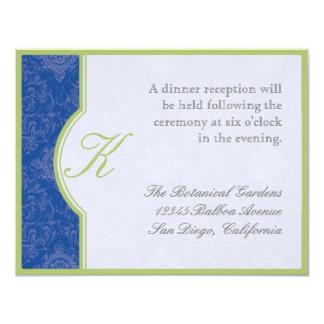 Delft Blue Toile Quatrefoil - Reception Invitation