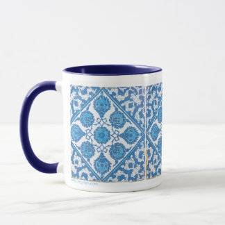 Delft Blue White Vintage Tile Coffee Mug
