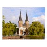 Delft, canales y entrada tarjetas postales