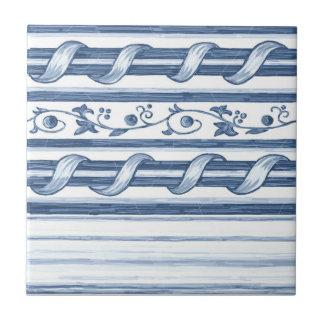 Delft Cord Border Ceramic Tile