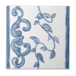 Delft Floral Border Ceramic Tile