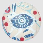 delft hare round stickers