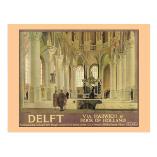 Delft LNER Poster Postcard